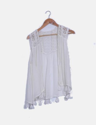 Chaleco crochet blanco