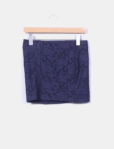 Mini falda azul puntilla NoName