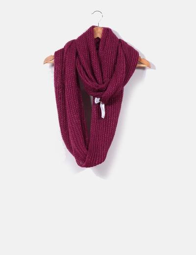 Bufanda cuello malva Vero Moda