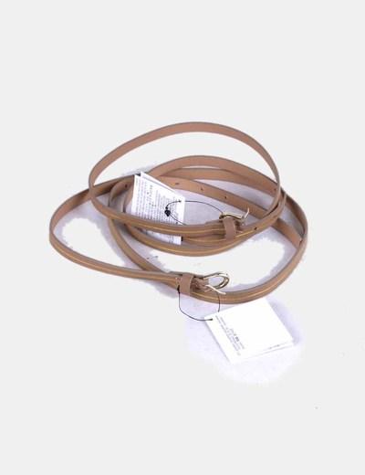 Conjunto de cinturones finos marrones NoName