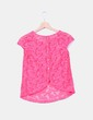 Camiseta rosa fucsia de encaje Atmosphere