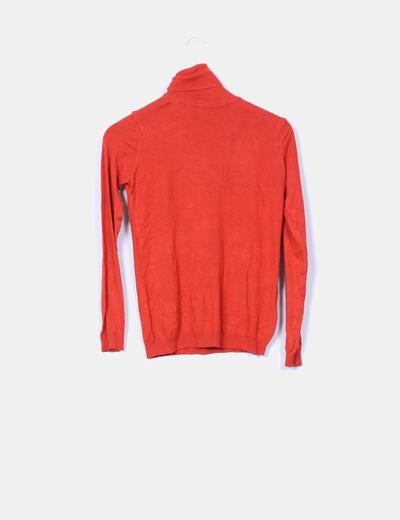 Jersey tricot cuello vuelto caldera