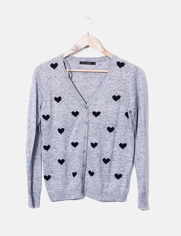 tricot de con Chaqueta y Cesar baratos Amadeus Abrigos corazones 1WUWC8wq