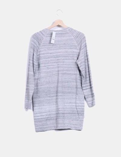 Vestido gris jaspeado efecto sudadera