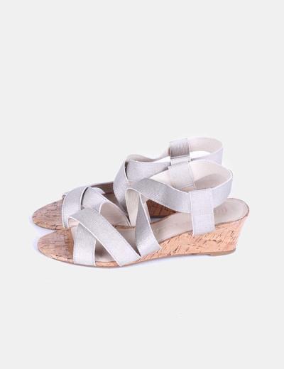 Sandalias de tiras doradas Bimba&Lola