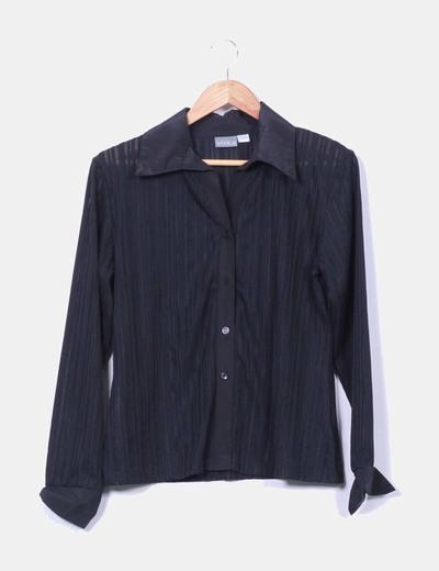 Camisa negra rayas Venca