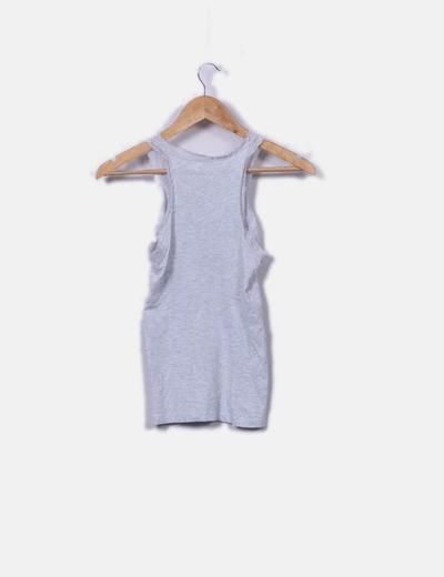 llega mejor amado 100% genuino Camiseta lencera gris