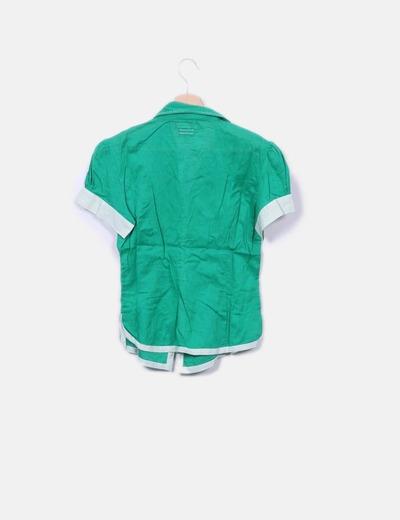 71ed643cf14 Md´m Camisa verde manga corta (descuento 97%) - Micolet