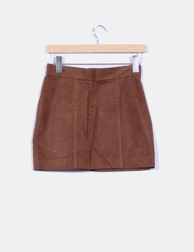 fb99467d8 NoName Falda marrón terciopelo (descuento 97 %) - Micolet