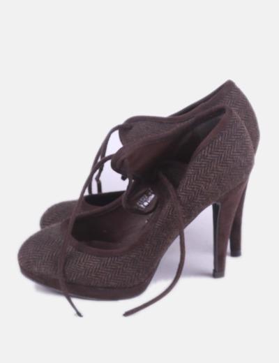 Zapato marrón print