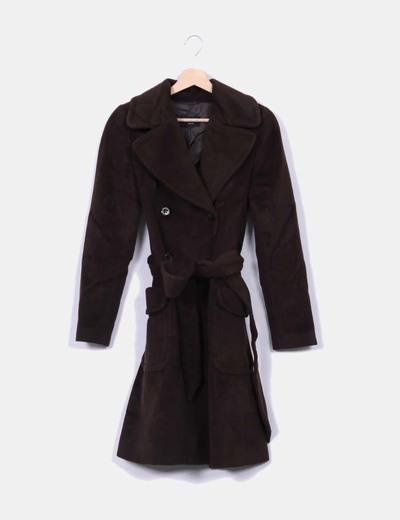 Abrigo marrón Massimo Dutti