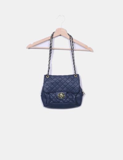 Bolso azul marino con cadena Pull&Bear