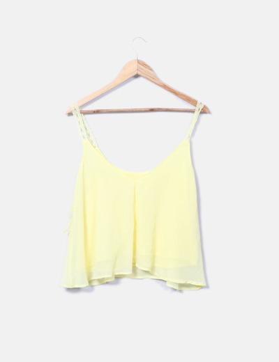 Blusa tirantes amarilla
