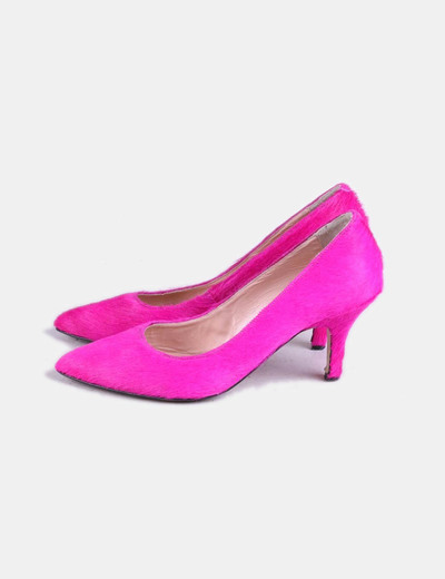 Chaussures fuchsia à fourrure Fun&Basics