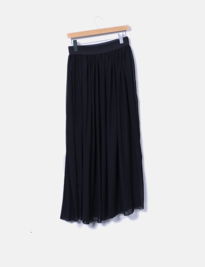 Falda maxi negra