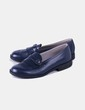 Zapato polipiel azul Zade