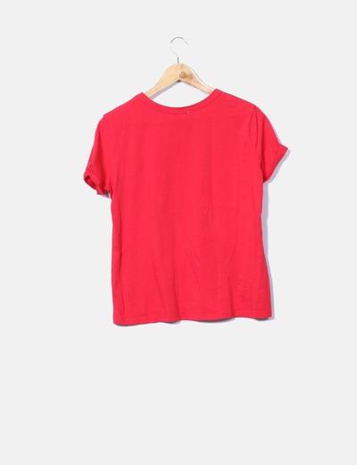 Camiseta roja de manga corta