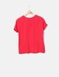 Camiseta roja de manga corta Zara