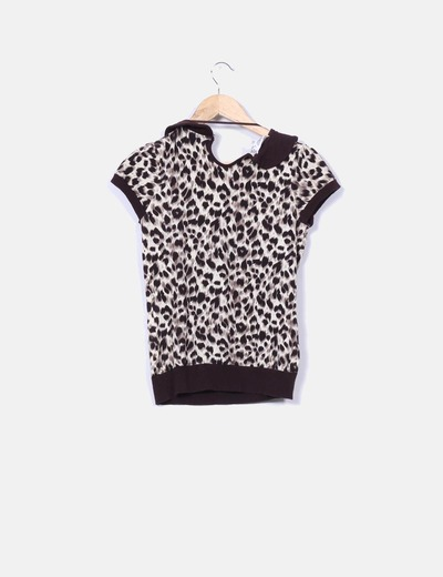 Top tricot leopardo