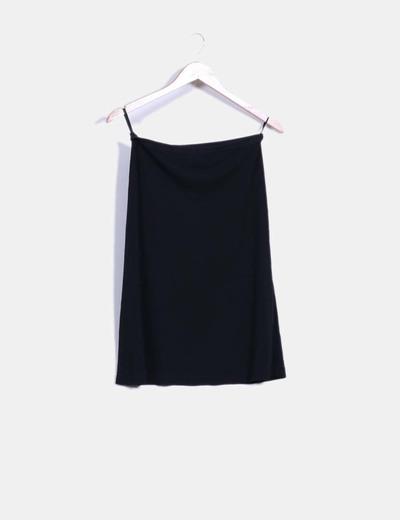 Falda midi negra con vuelo Lipstik