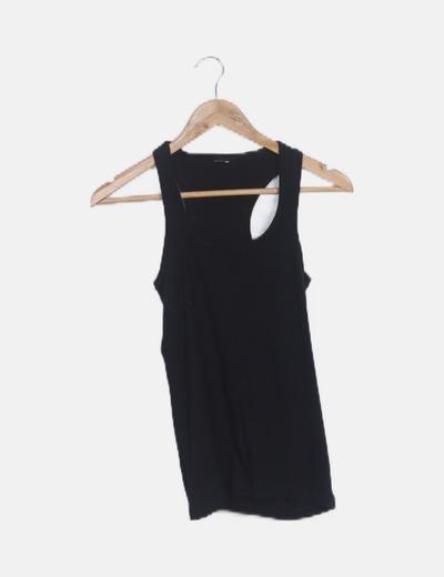 Camiseta tirantes negra basic