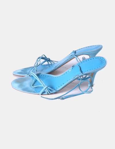 Cielo Tiras Sandalia Con Cielo Sandalia Azul Sandalia Azul Tiras Azul Con kXOiuTPlZw