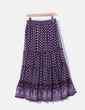 Purple maxi skirt printed Pimkie
