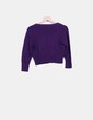 Cárdigan tricot morado Leño