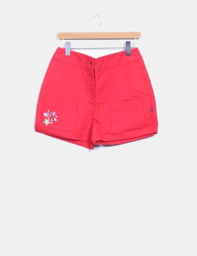 Bermudas fresa con bolsilos Titis Clothing