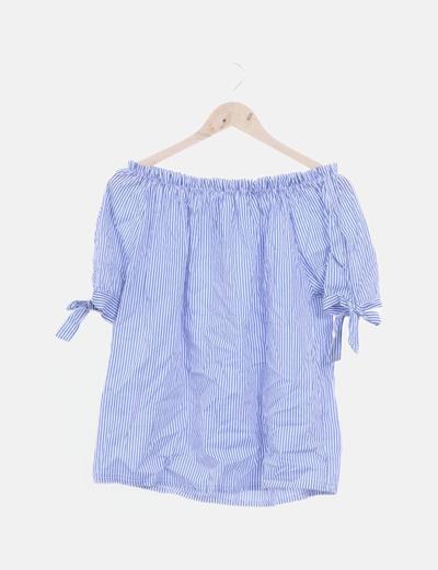 Blusa de rayas con elástico
