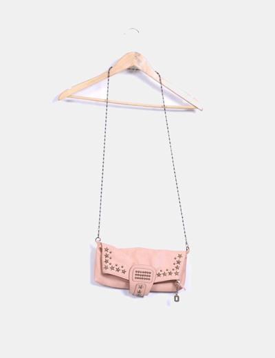 moda más deseable venta profesional mayor selección de 2019 Bandolera rosa palo con tachas