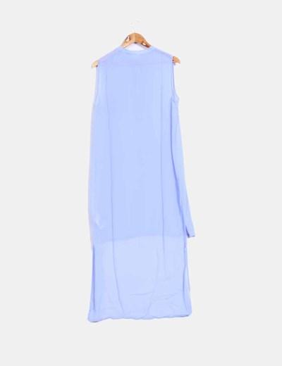 Camisola azul cielo corte asimetrico