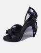 Sandales noires en cuir Zara