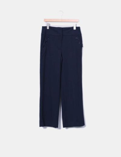 Pantalón azul marino Mango