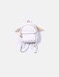 Beige rhombus backpack Zara