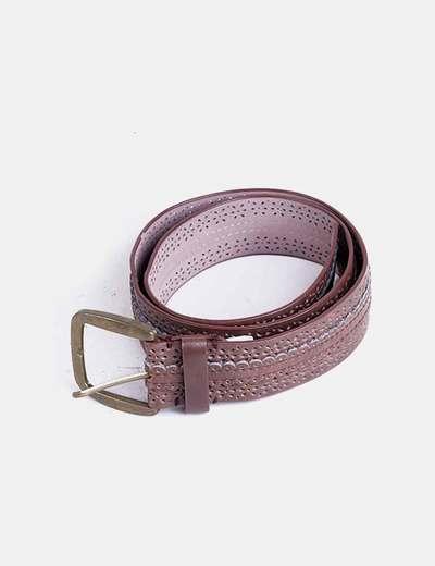 Cinturón marrón calado Sfera