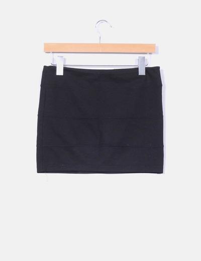 Falda mini negra elastica