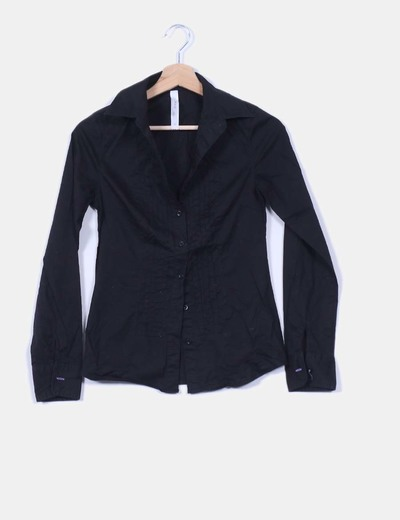 Camisa básica negra Springfield