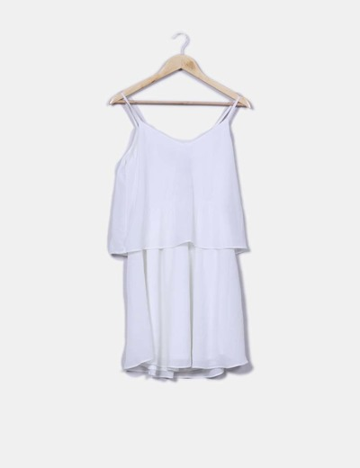 Vestido capa blanco Vila