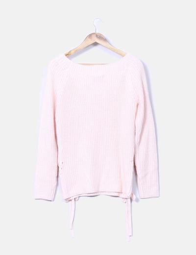 Jersey de punto rosa palo