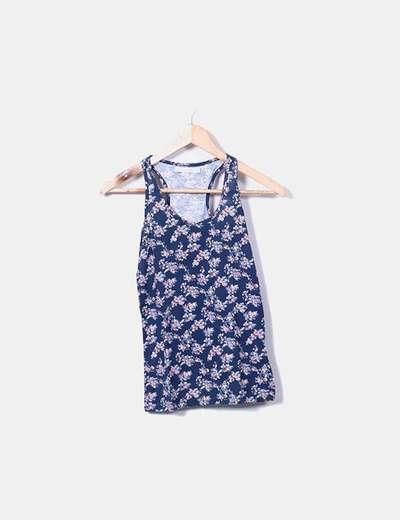Camiseta nadadora floral