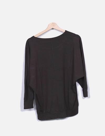 Camiseta marron print