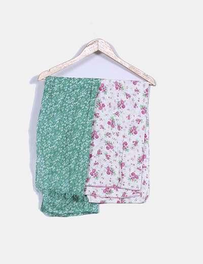 Conjunto pañuelos verde y floral NoName