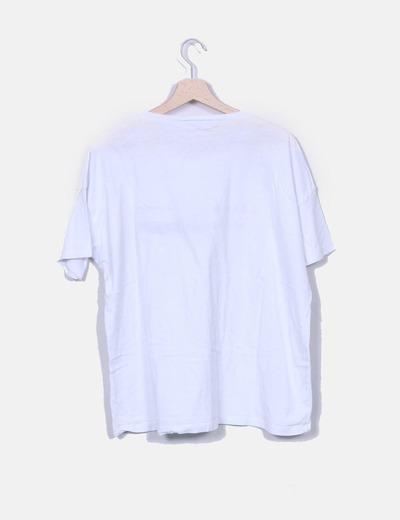 Camiseta blanca print letras