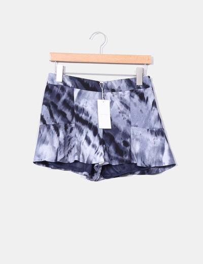 Falda pantalón azul aguas Easy Wear