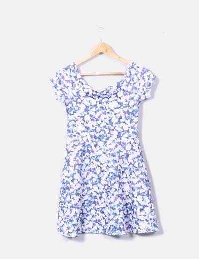 Vestido floral texturizado