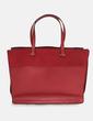 Bolso shopper rojo combinado Zara