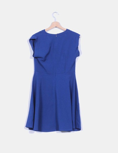 Vestido evase azul klein