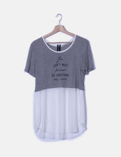 Camiseta combinada de manga corta