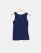 T-shirt bleu à bretelles H&M